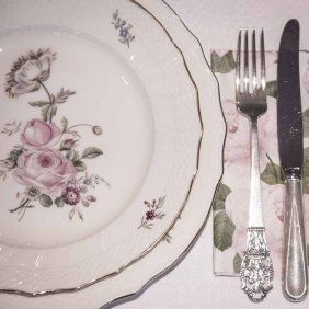 Frijsenborg blek rose #borddekking #vintage #table setting