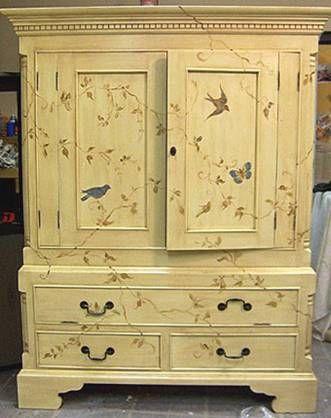 mueble de TV Старый шкаф после реставрации