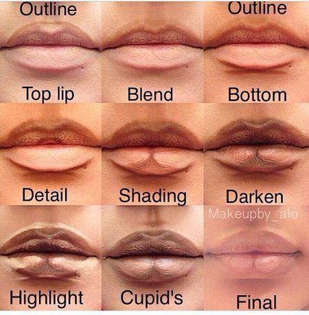Lip pluming using makeup via #makeupbyalo