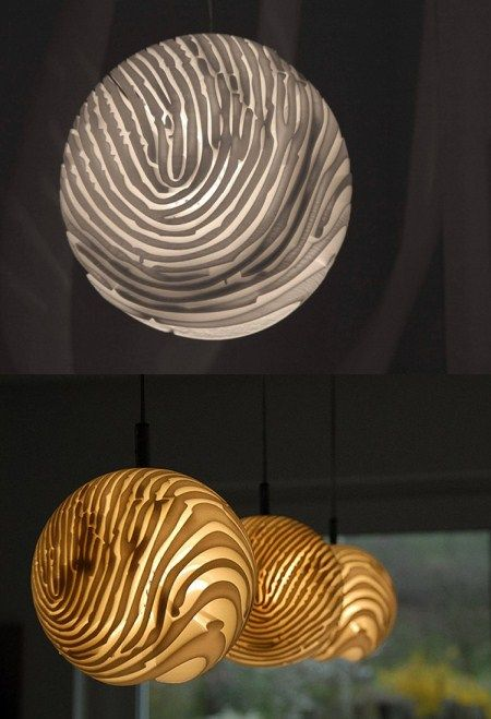 Spherical Fingerprint Chandelier - Top Creative Works - You can imprint your fingerprint on the chandelier to get the exclusive chandelier