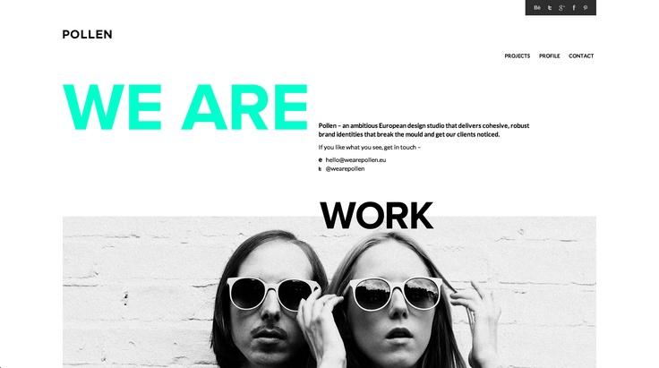 http://wearepollen.eu/  #website big # typo #spring-green #black #white