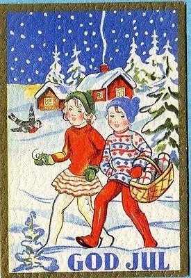 P21 Swedish Miniature postcard, GOD JUL