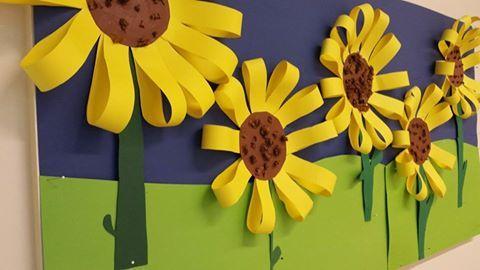 Auringonkukkia (Alkuopettajat -FB -sivustolta)
