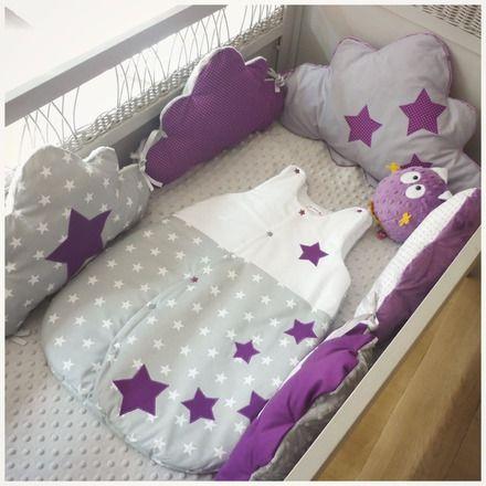 Tour de lit bébé réalisé SUR COMMANDE délais 5 semaines vendu seul  Pour habiller le lit de votre petit bout de choux voici un tour de lit moelleux en forme de nuage   il  - 15925182