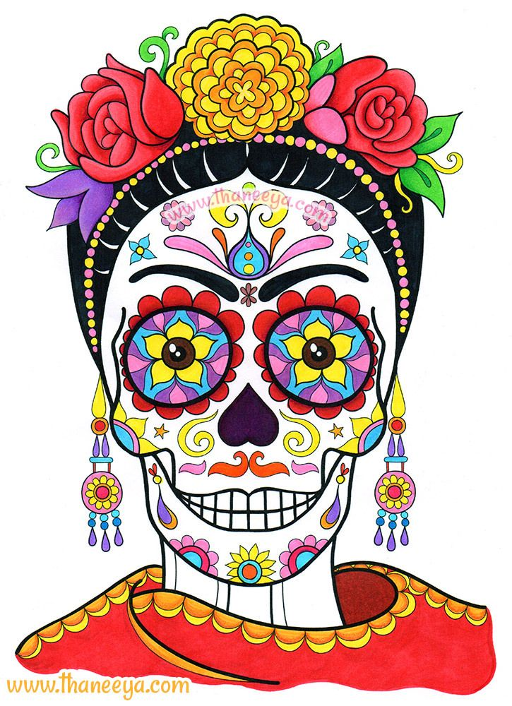 Frida Sugar Skull by Thaneeya McArdle | Flickr - Photo Sharing!
