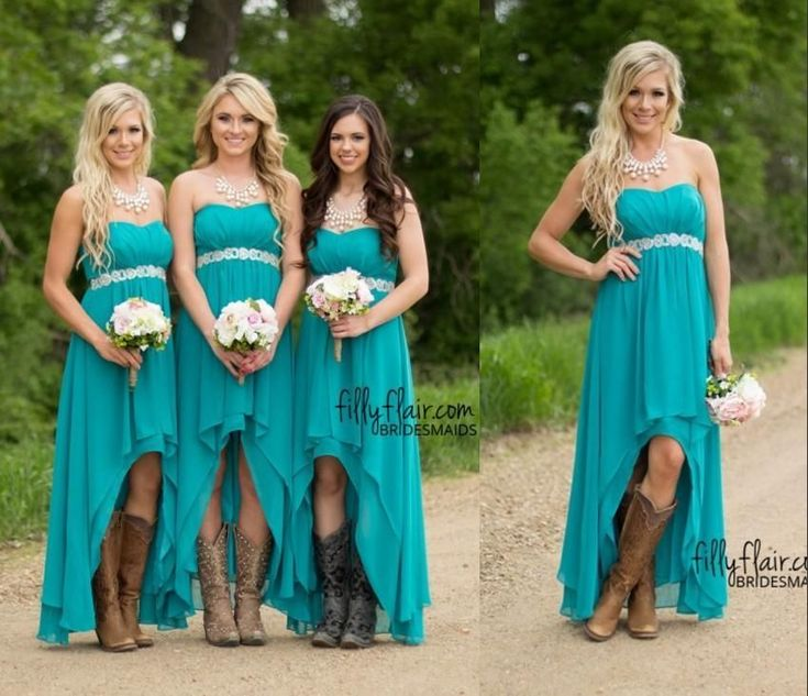Inexpensive Bridesmaid Dresses Modest Maternity Short Bridesmaid Dresses 2015 Cheap Under 100 Turquoise Western Country Wedding Party Guest Wear Plus Size High Low Chiffon Bridesmaids Dresses Uk From Nameilishawedding, $49.22| Dhgate.Com #WesternWeddings