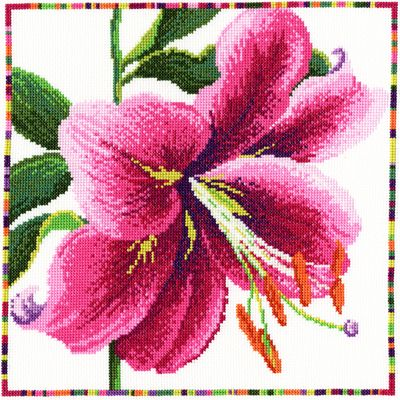 Garden Flowers - Lily Cross Stitch Kit by Bothy Threads