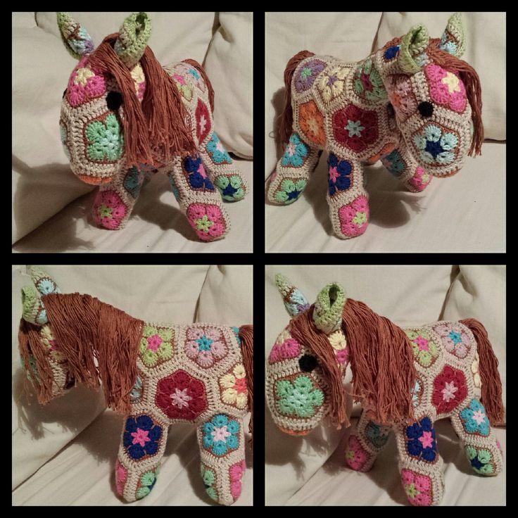 Fatty Lumpkin the Brave African Flower Pony Crochet ...