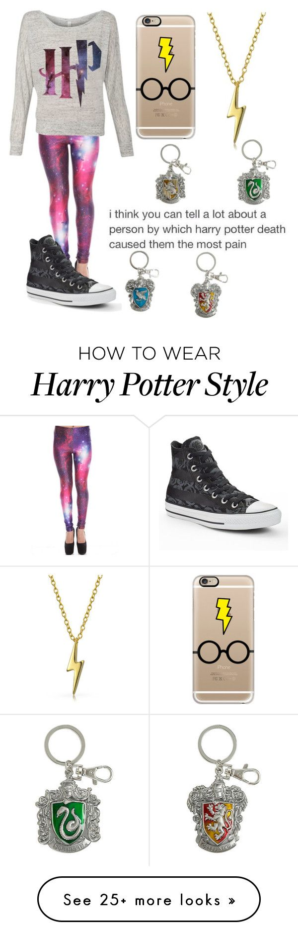 """Harry Potter"" by musiclover135 on Polyvore featuring Casetify, Bling Jewelry and Converse"