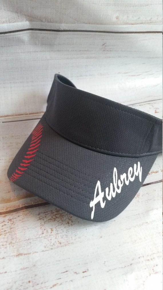 Softball visor:  This breathable mesh visor comes in eleven (11) vibrant colors You can personalize the colors to match your team. It has a built