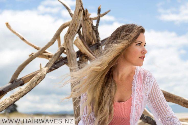 #hairwaveswaihibeach Beach model hair blonde sand.