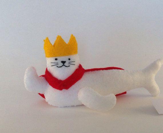 Royal Seal  Fun cute gift for friends  Felt plush by MonsterDen