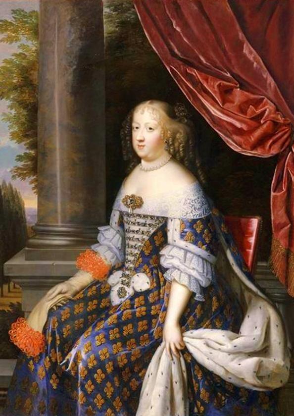 Detail of Marie Thérèse d'Autriche by Nocret.jpg