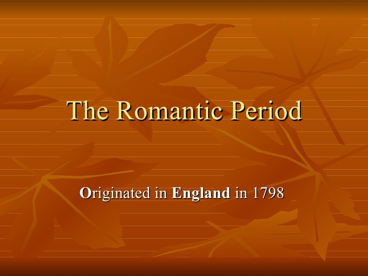 the-romantic-period by babu78 via Slideshare