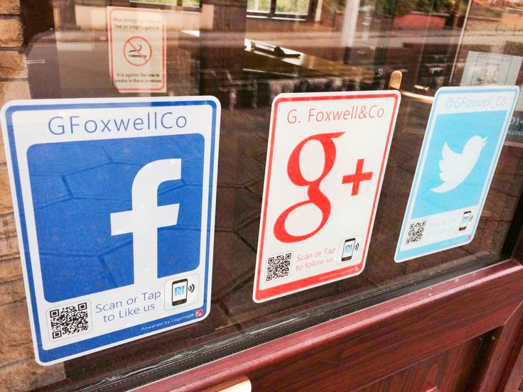 The team at G. Foxwell & Co are now now open all hours with their interactive window tags helping turn their footfall into followers #tyfif #logotag #socialmediastickers
