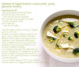 - VANIGLIA - storie di cucina: Vellutata con fagioli di Pigna, broccoli, pecorino romano e pinoli.