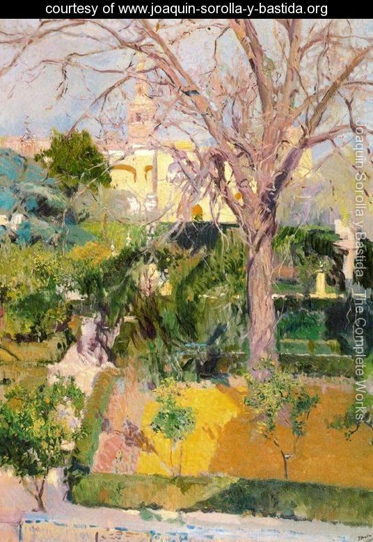 Gardens of the Alcazar in Seville    Joaquin Sorolla y Bastida