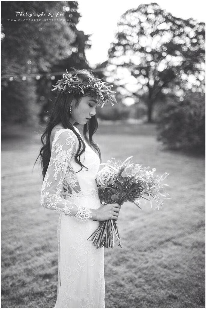 Boho Bridal - Gemma Sargent Sienna Bohemian Inspired Lace Bridal Gown