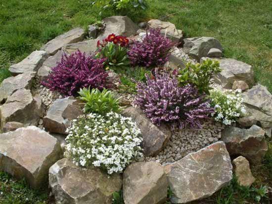 Yard rock garden small