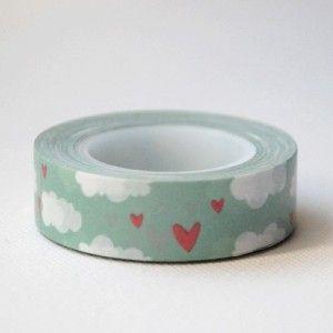masking tape coeurs et nuages - ma jolie papeterie - 2,9