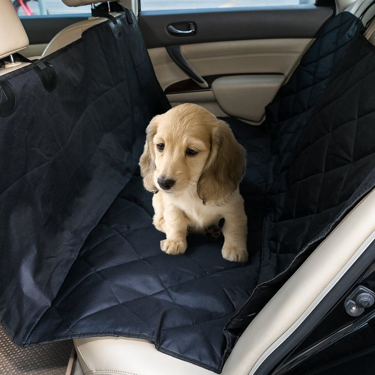 allimity Pet Car Seat Cover Waterproof and Non Slip Hammock Convertible, Machine Washable Backseat Cover for Cars Trucks and SUVs, Black * Click image for more details. (This is an affiliate link) #Dogs