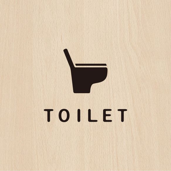 -TOILET- トイレサインステッカー 〈黒〉 |その他インテリア雑貨|jupes|ハンドメイド通販・販売のCreema