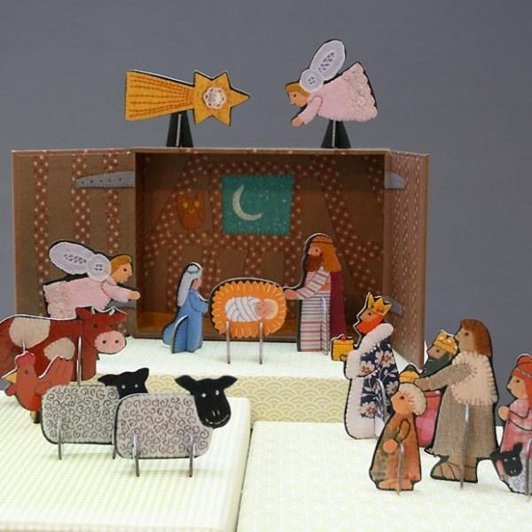 Pop & Slot boxed nativity scene