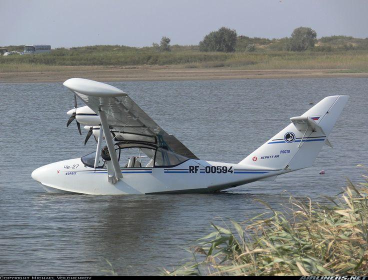 "Gidroplan Che-22 ""Corvette"" three seat, twin engine amphibious light sport aircraft"