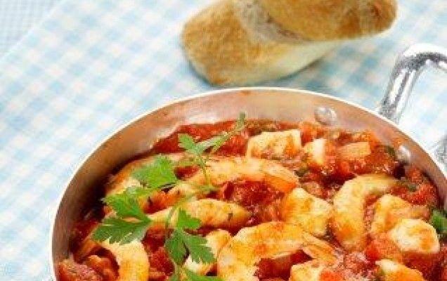 Συνταγή για γαρίδες σαγανάκι.