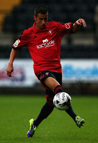 Alex Berenguer of Osasuna in action during the Pre Season Friendly match between Notts County and CA Osasuna at Meadow Lane on August 1, 2014 in Nottingham, England.