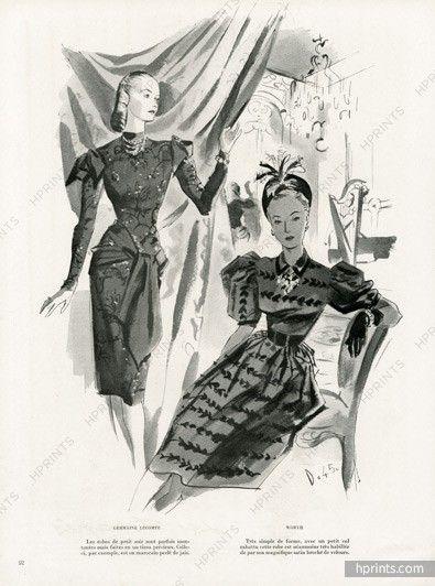 Germaine Lecomte, Worth 1945 Delfau