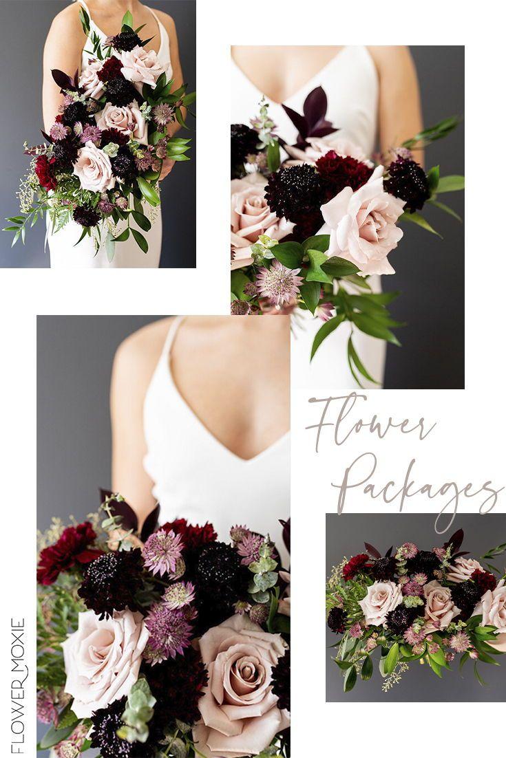 Diy Dusty Rose And Marsala Wedding Flower Packages By Flower Moxie Marsala Wedding Flowers Online Wedding Flowers Wedding Flower Packages