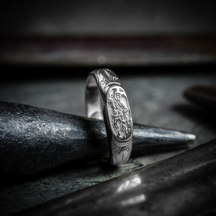 This ring with St. George symbol was inspired by finding from the early 15th century, England🇬🇧It is already available on e-shop in sterling silver, for gilded brass variant we have to wait⌛but hope not too long☺️ Original which inspired us you can find here:http://www.time-lines.co.uk/medieval-iconographic-ring-11488-0.html