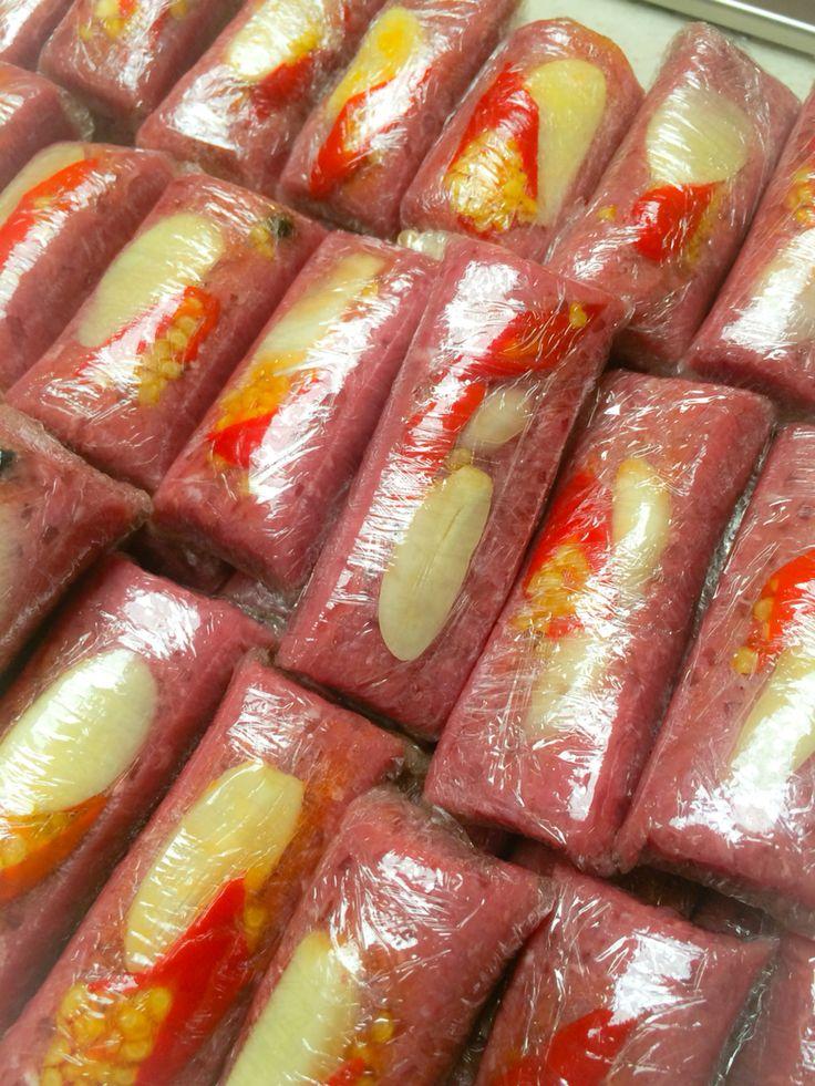 Nem Chua Bo Vietnamese Fermented Sausages Getting Ready