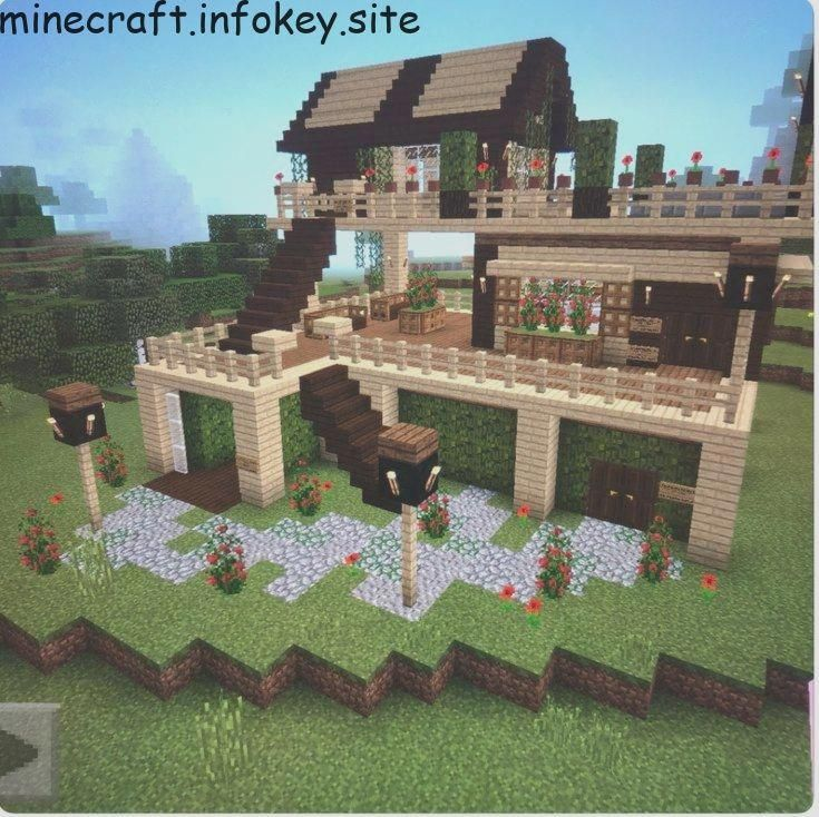 Survival Tips In The Woods Minecraft Houses Easy Minecraft Houses Minecraft Creations House design tips minecraft