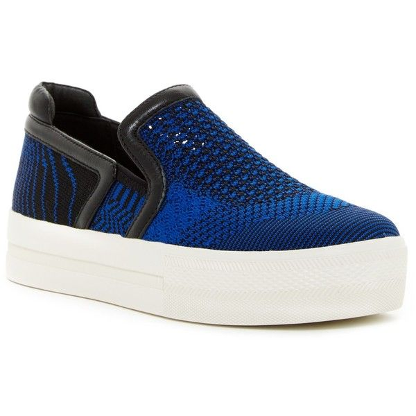 Ash Jeday Platform Slip-On Sneaker ($120) ❤ liked on Polyvore featuring shoes, sneakers, leather shoes, ash trainers, platform trainers, platform slip-on sneakers and ash sneakers