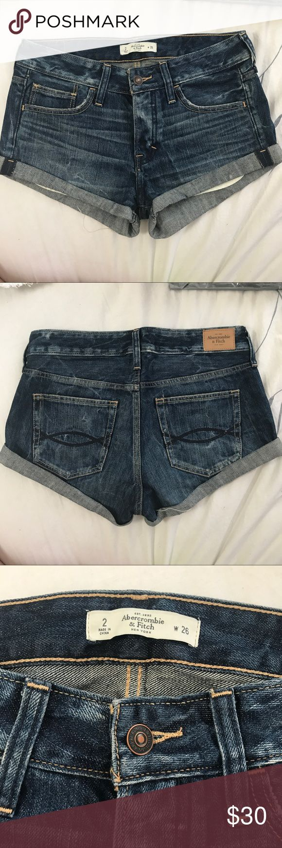 Abercrombie and Fitch Denim Shorts Beautiful and worn only once! Wear it day time or dress it up with heels. Abercrombie & Fitch Shorts Jean Shorts