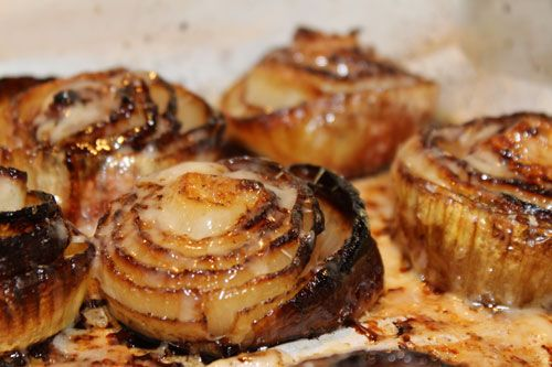 Baked Onions with Gruyere Cheese: It tastes like french onion soup. A perfect side dish to any red meat.