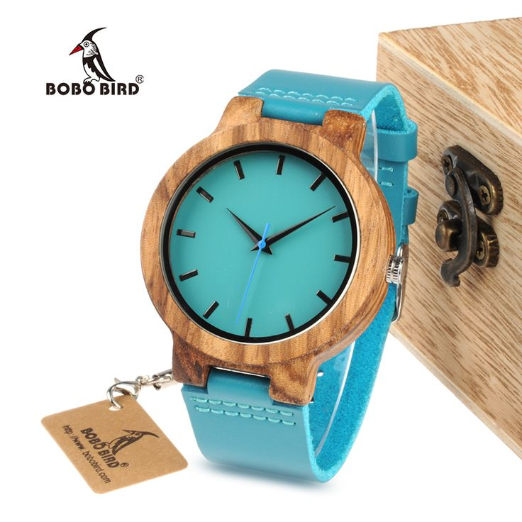 Blue Leather Wood Watch   Best Price and Free Shipping Worldwide    #purse #teenclothes #young #shopping #glam #accessories