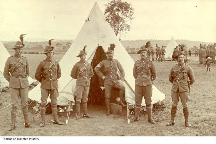 Tasmanian Mounted infantry Australian Contingents to the Boer War