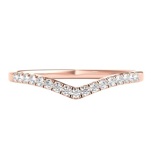 Shop Our 1 10 Ct Tw Diamond Chevron Band In 10k Rose Gold Browse Today Wedding Rings For Women Rose Gold Rose Gold Band