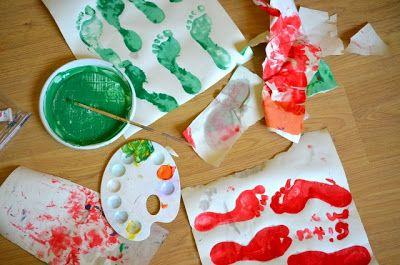Linfa Creativa: Bambini: pittura con i piedi
