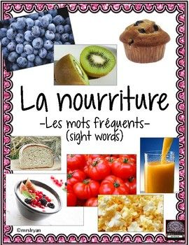 Use these 86 French flashcards to help your students learn food vocabulary! Included are 24 pages that can be used either as posters in the classroom or cut up to be individual word wall flashcards. Use all 86 vocabulary cards or choose the ones you wish
