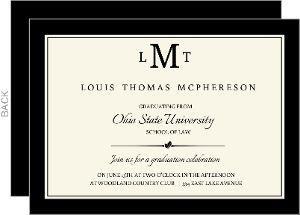 Classic Law School Diploma Announcement