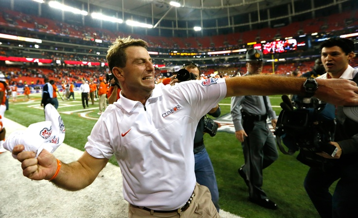 DABO....His excitement for Clemson Football will never get old.  His love for his players OFF the field and his life beyond football are a huge plus too!