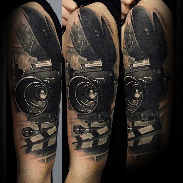 80 Camera Tattoo Designs For Men Photography Ink Ideas Camera Tattoos Movie Tattoo Camera Tattoo Design