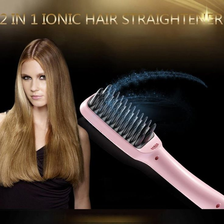2 In 1 LCD PTC Heating + Ionic Electric Fast Hair Straightener Brush Hair Straightener Comb Straightening Brush #clothing,#shoes,#jewelry,#women,#men,#hats,#watches,#belts,#fashion,#style