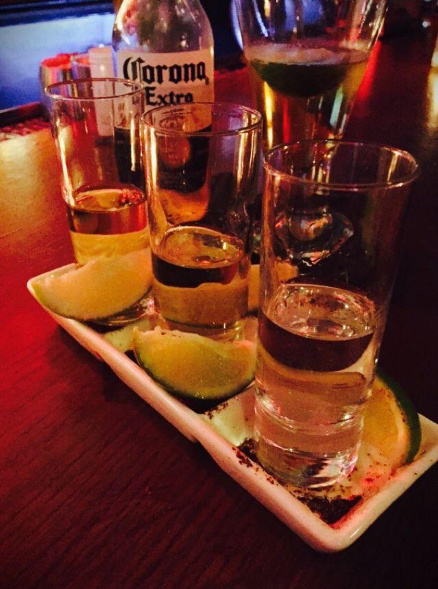 Shots of Tequila w Corona chasers at Dos Caminos Harrahs AC