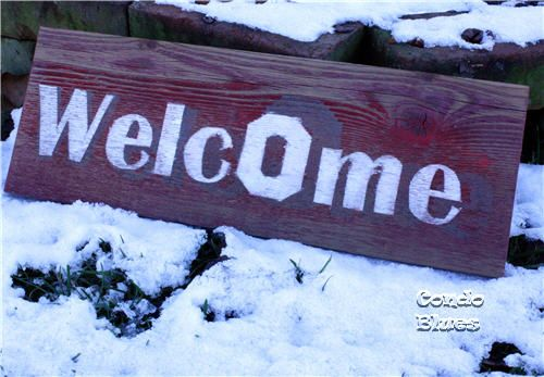 "Condo Blues: How to Make an Ohio State University Block O Welcome Sign from ""barn wood"""