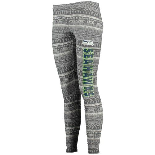 Women's Seattle Seahawks Concept Sports Charcoal Comeback Tribal Print Leggings